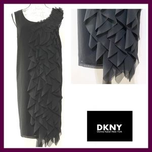 NWT DKNY Ruffled Midi Dress